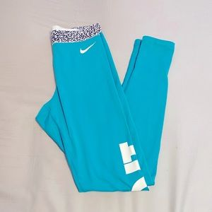 Blue Nike Leggings